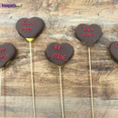 Fruit Bouquets' How to Make Valentine's Chocolate Covered Candy Heart Pineapple Skewers