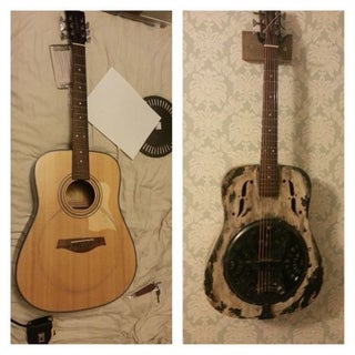 Resonator Guitar Converted From Old Acoustic Guitar