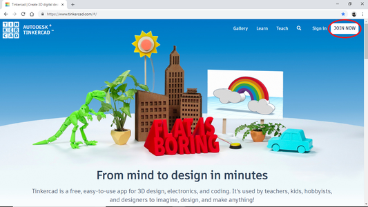 Sign Up for Tinkercad Account