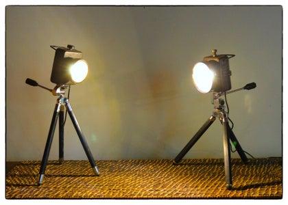 Vintage Flash Light Lamp