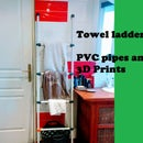 PVC Pipe and 3D-Printed Towel Ladder