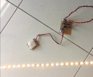 Motion Sensor Activated LED Strip With Timer