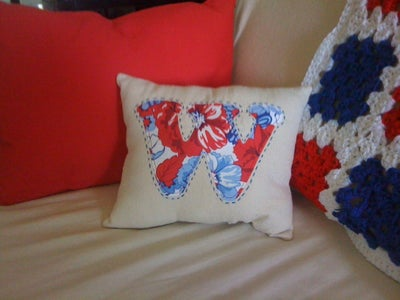 Beginner Sewing Monogrammed Pillow