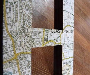 Customised Map Letters (on the Cheap!)