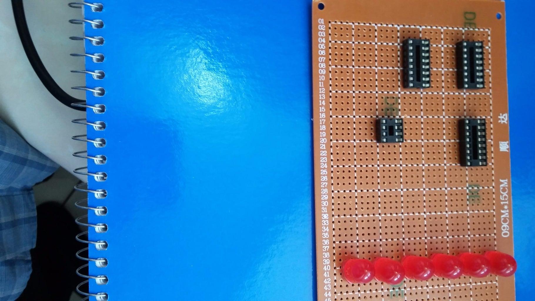 Install LEDs & IC-Sockets