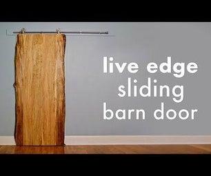 DIY Live Edge Sliding Barn Door // How to Build - Woodworking