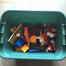 Plastic Toy Cleaning with Storage Bins