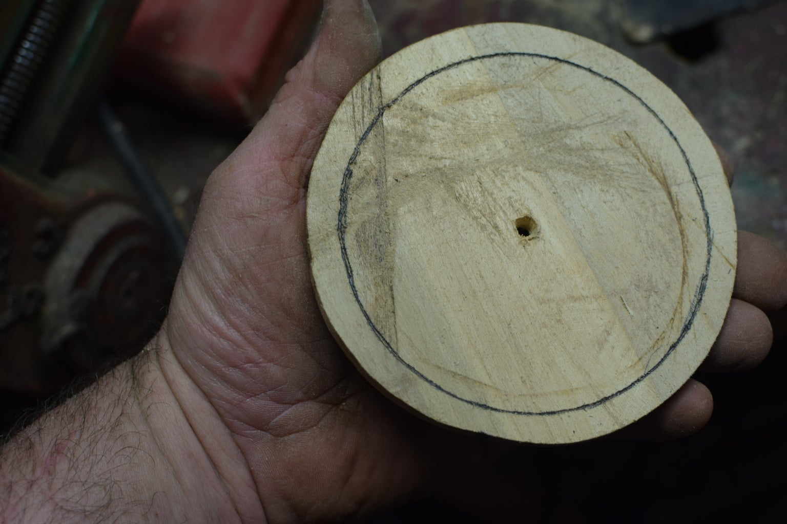 Scribe an Inside Circumference Line.