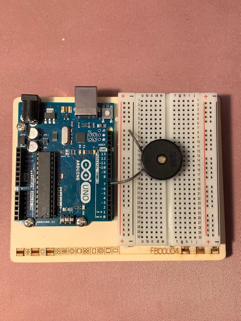 Circuit Part 2 - Wiring the Piezo Button