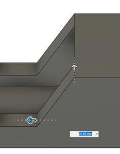 Design Process - Stepper Motor Mount - Side Walls - More Chamfers