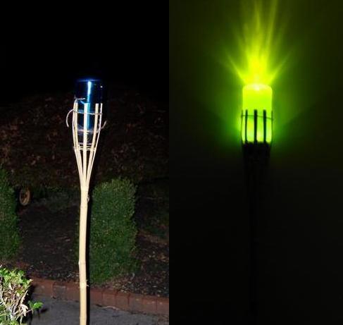 Safe Tiki torch / water bottle light!