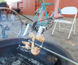 Bike-Powered Rotisserie Spit