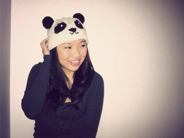 DIY: Knitted Panda Hat