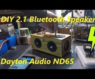 !!Awesome!! DIY Mini Bluetooth Speaker BoomBox Build Dayton Audio ND65-4 & ND65PR