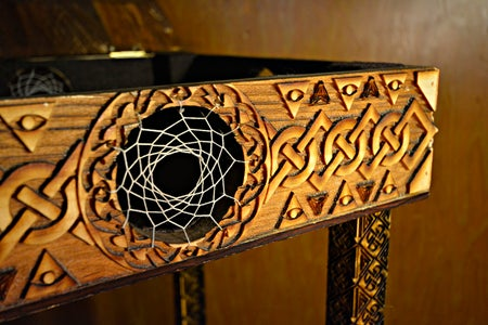 High Celtic Cross End Table