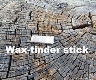 DIY Wax-tinder Sticks