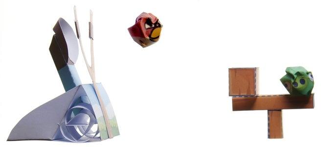 Angry Birds Paper Toy