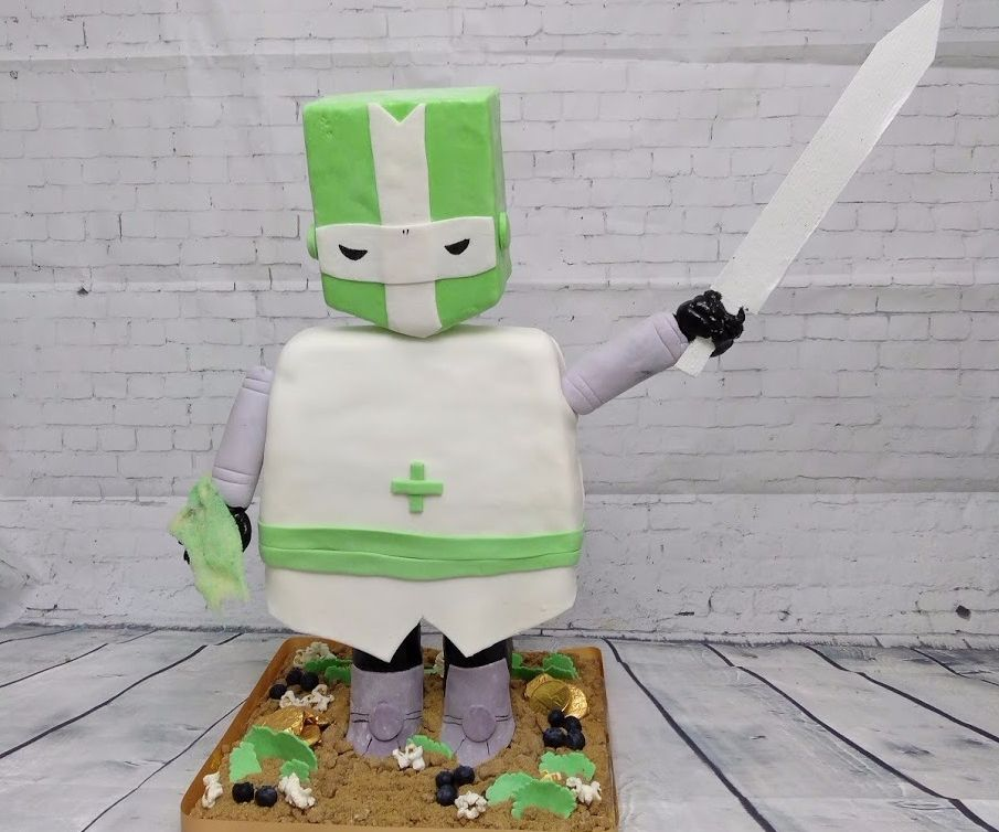 How to Make a Stand-up CASTLE CRASHER KNIGHT Cake