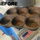 Sandblasting Rusty Cast Iron cookware