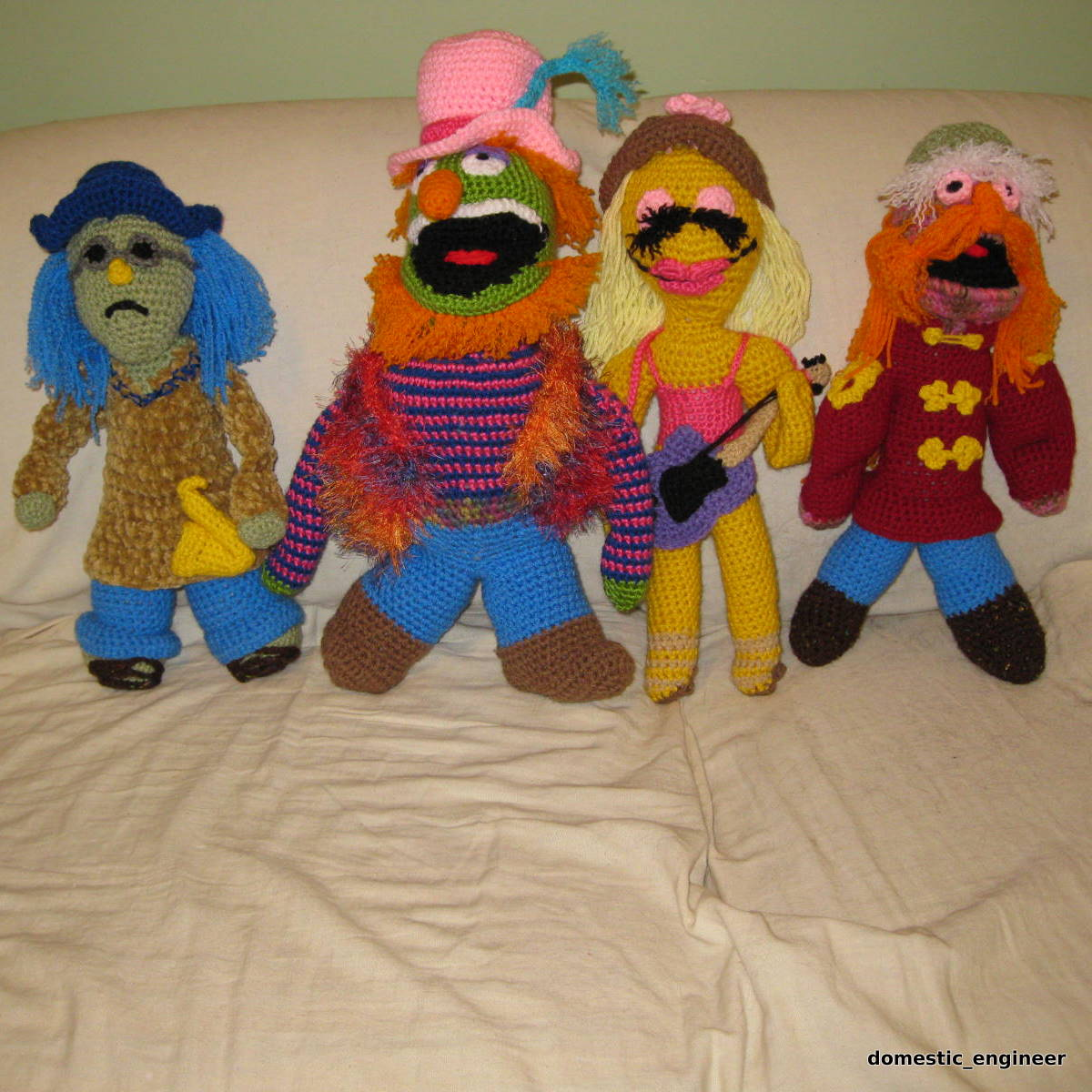 A Crocheted Tribute to Dr. Teeth and the Electric Mayhem