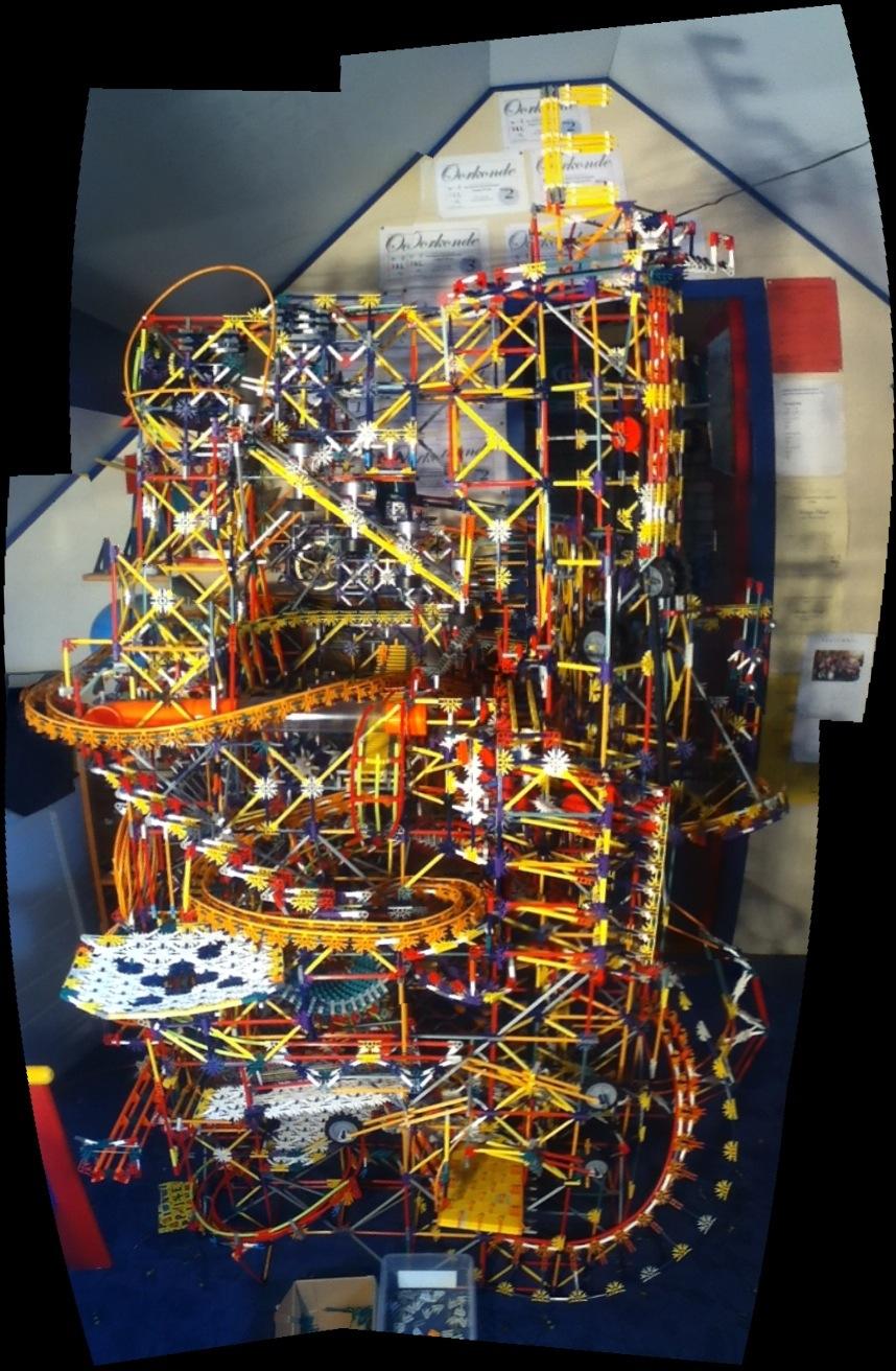 Elevation knex ball machine