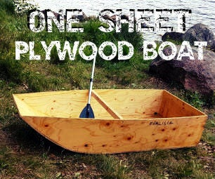 One Sheet Plywood Boat