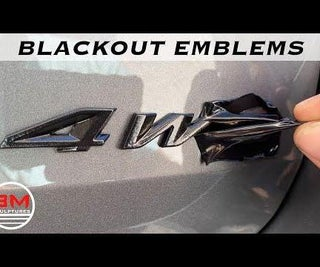 Blackout Car Emblems / Logo Cheaply and Easily.