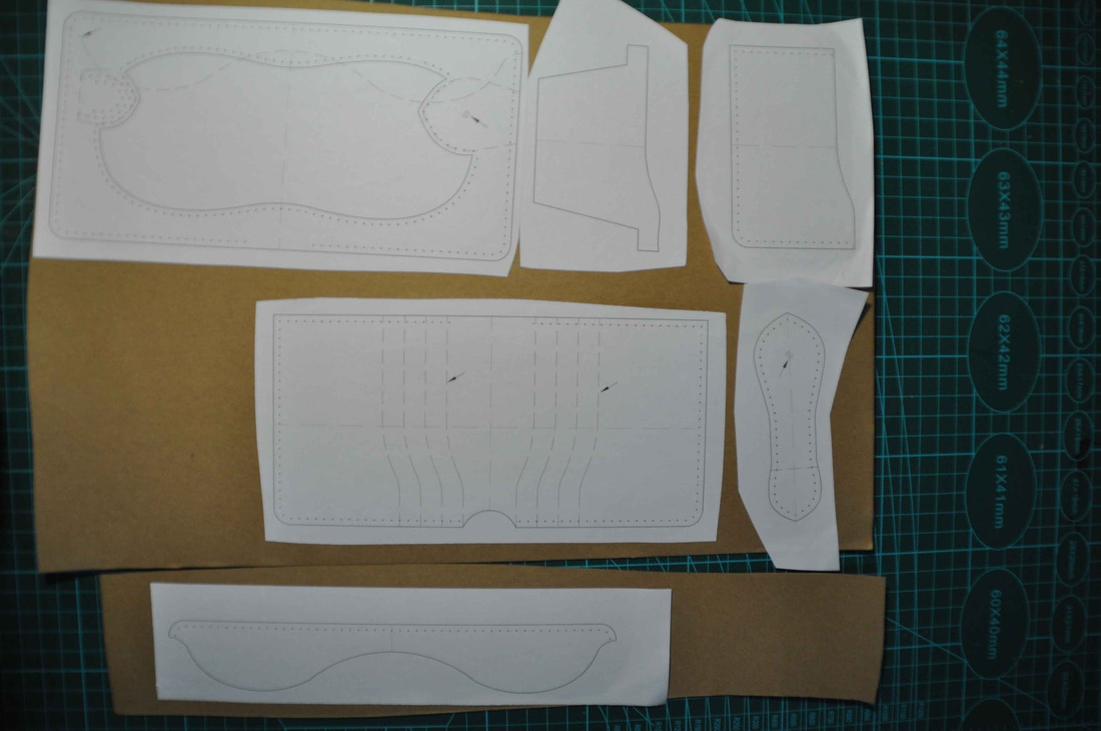 Print the Pattern Out and Paste It on a Large Kraft.
