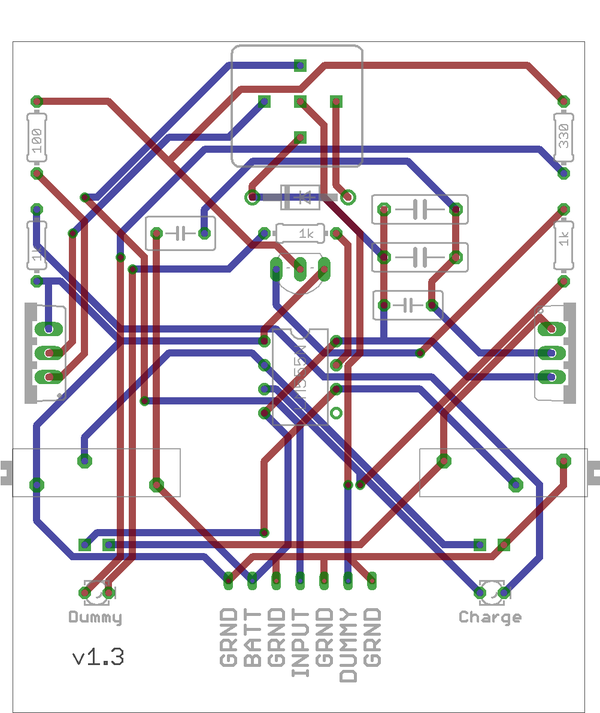 555 Chip PCB  Schematic (Charge Controller)
