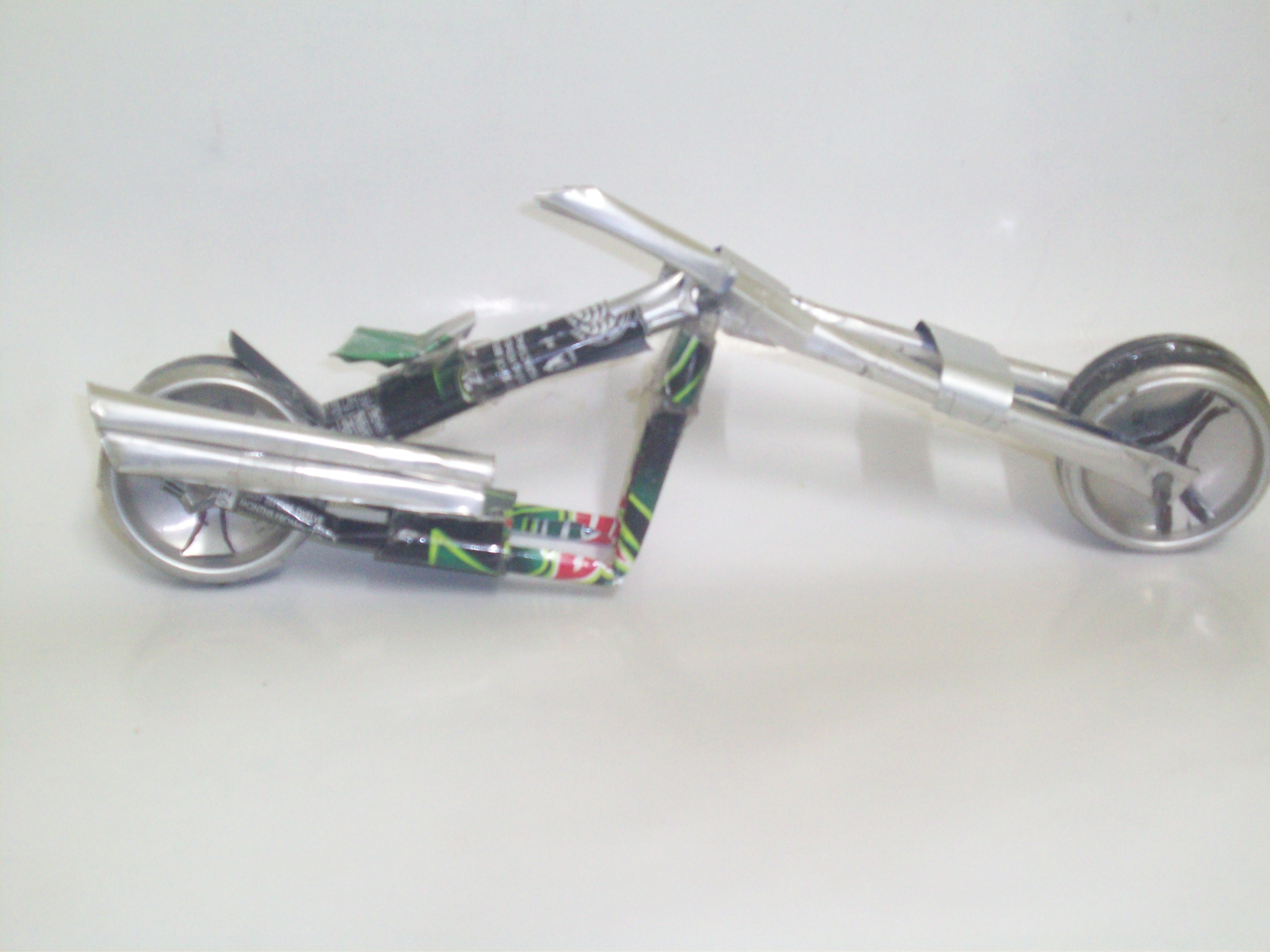 Make a custom Chopper from empty cold deink cans.