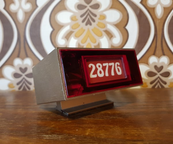 1970s E-Ink YouTube Counter