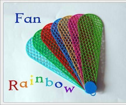 3D Printing. Fan Rainbow.