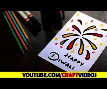 HOW TO DRAW DIWALI CARD