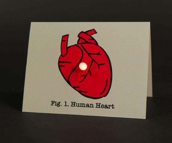 纸电路情人节卡片