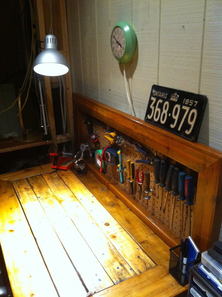 Maker/Work Bench From Scrap Wood