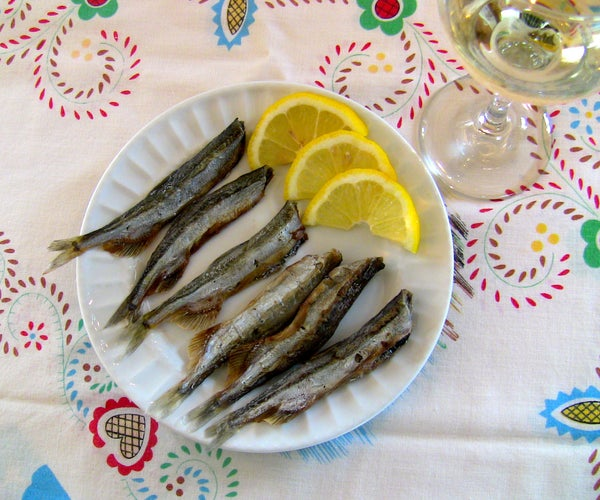 Cleaning and Curing Small Fish