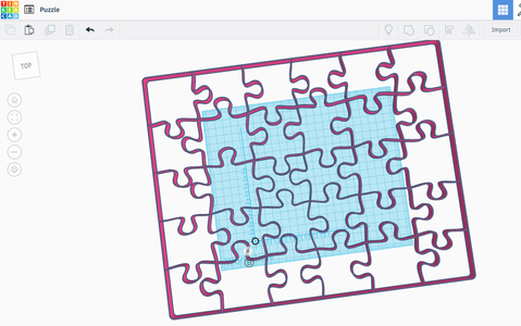 Convert the Puzzle Design for Tinkercad (or Other Program)