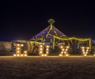 A Big, Luxurious Stretch Tent for Burning Man