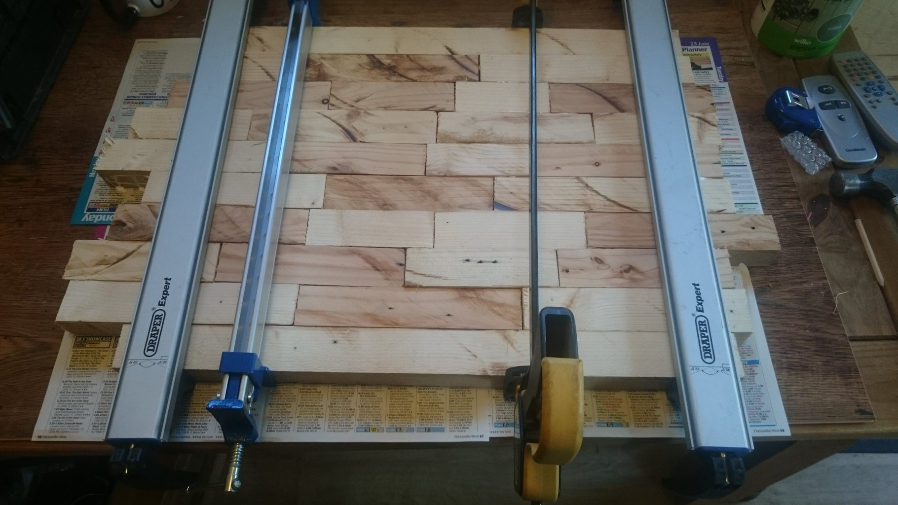 Step 2 – Gluing & Clamping