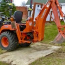 Kubota BX Removing the Backhoe