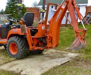 Kubota BX Removing the Backhoe
