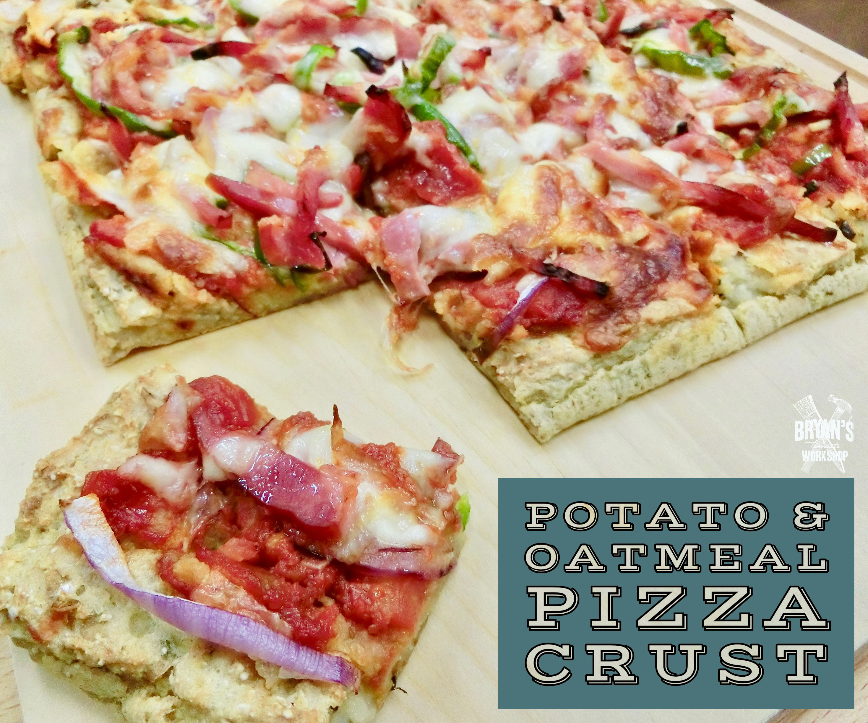 Potato & Oatmeal Pizza Crust (No Flour)