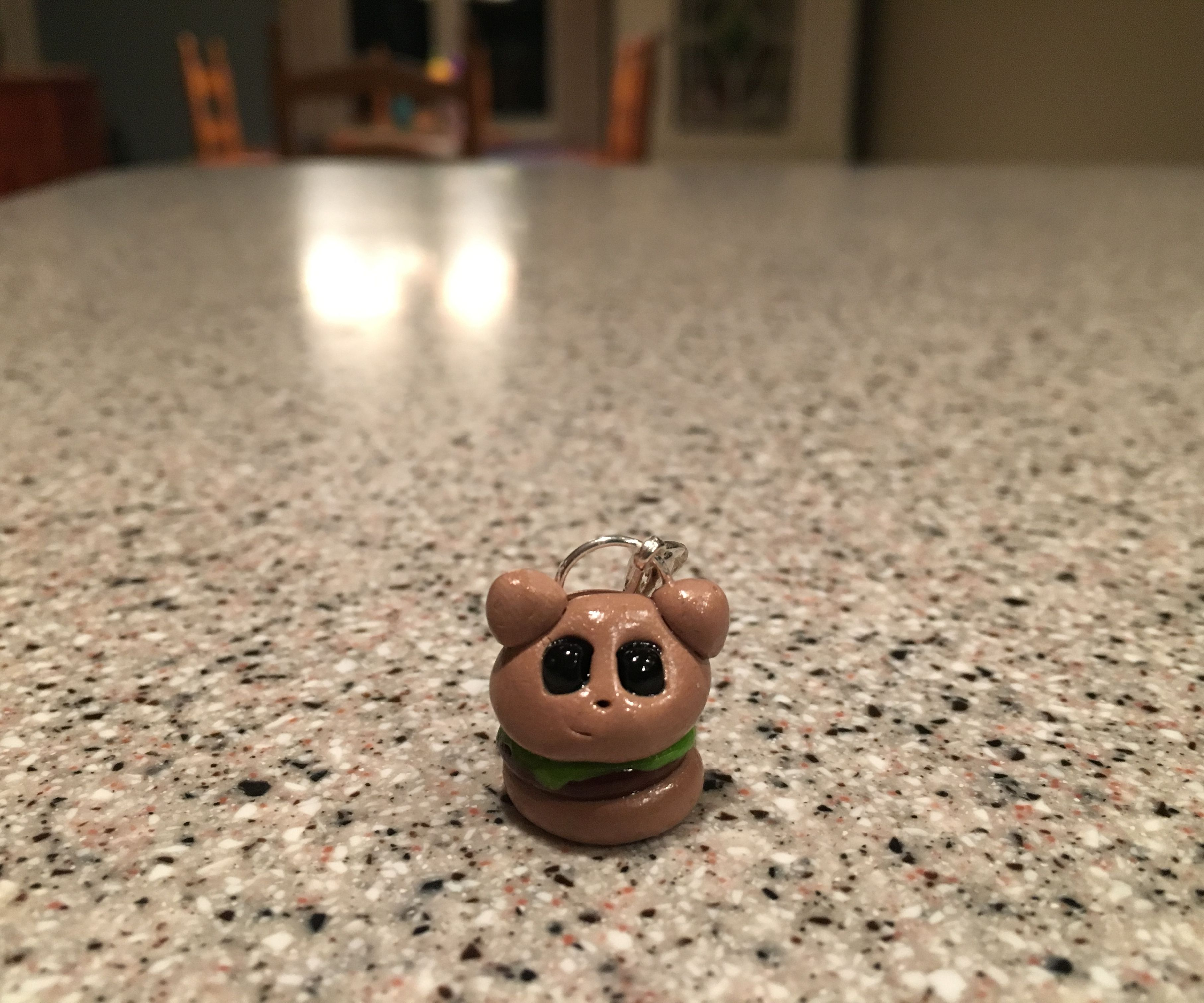 Puppy Burger Clay Charm Tutorial