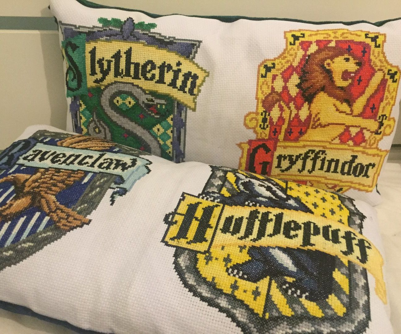Harry Potter Cross-stitch Pillows