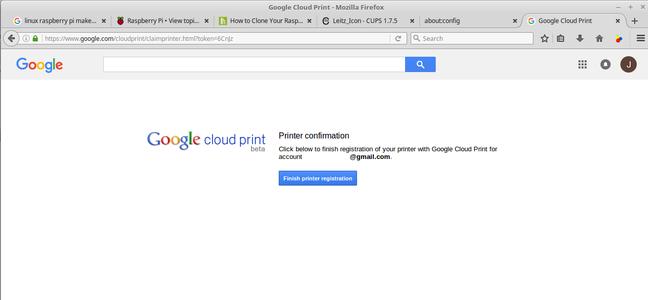 Startup Google Cloud Print