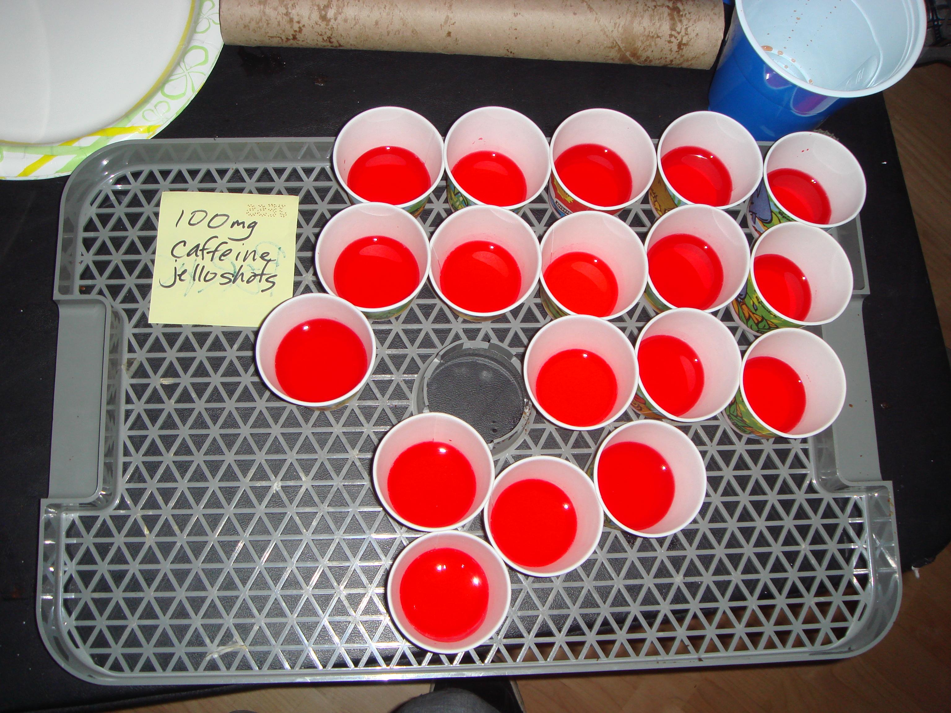 Caffeinated Jello Shots