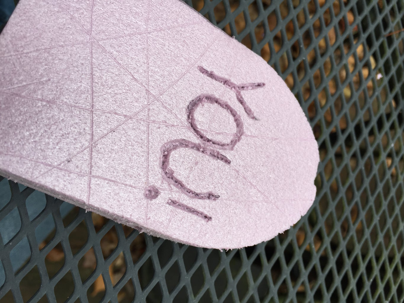 By Hand: a Simple Tombstone