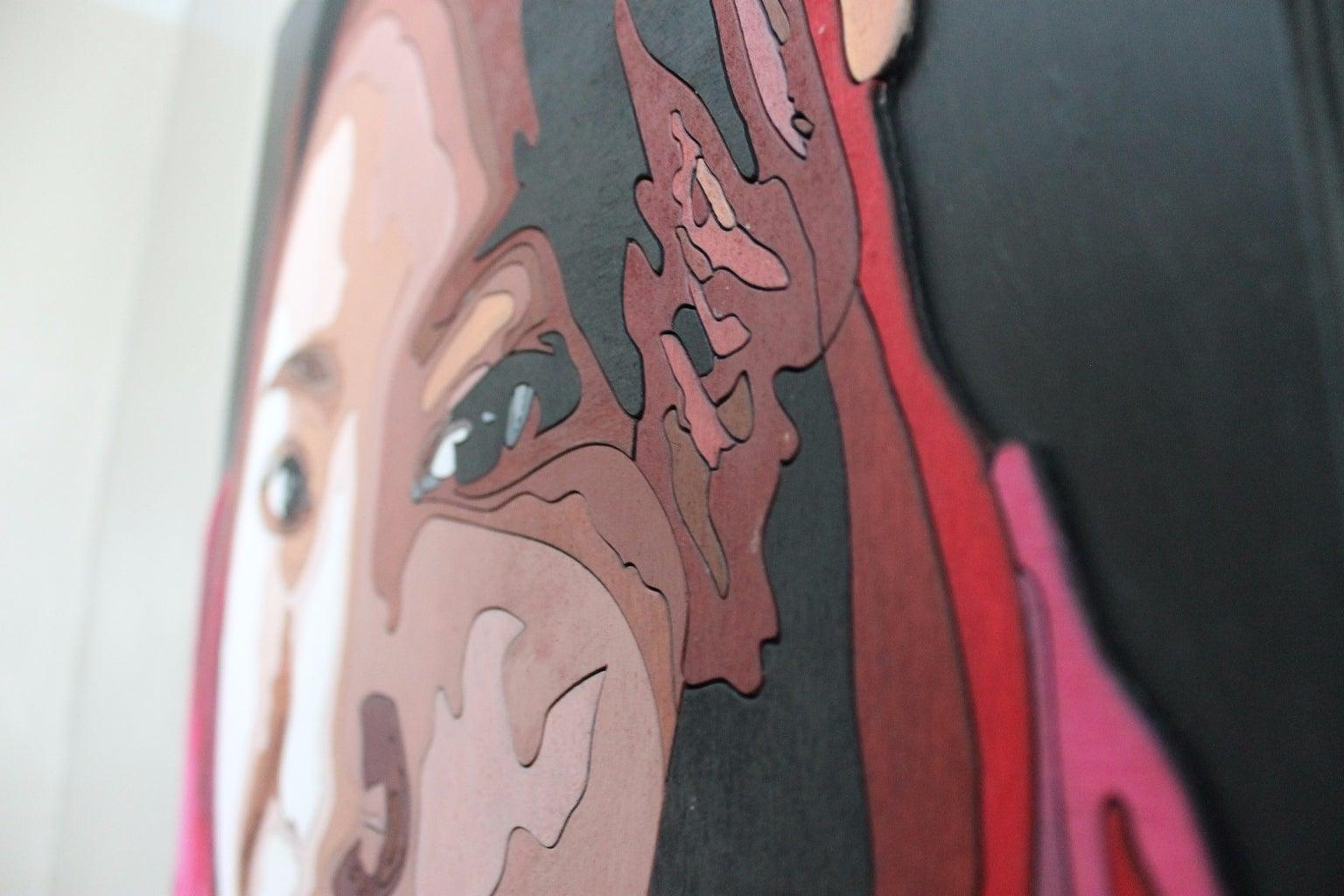 Laser Cut Wood Portrait