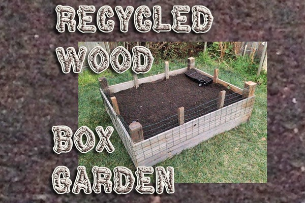 Recycled Wood Box Garden