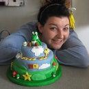 Making Super Mario - Yoshi Birthday Cake